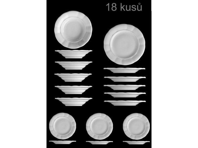 ...VENKOVSKÁ KLASIKA - Sada venkovských tlustostěnných talířů - 18 ks