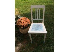 Židle - bílo modrá