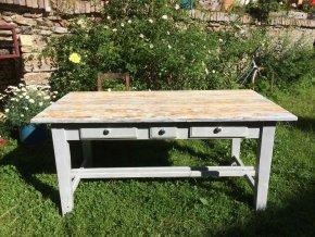 Velký jídelní stůl -  pro 6-8 osob, 3 šuplíky