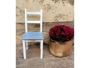 Židle - bílo modrá 2
