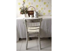 Židle - bílá s patinou