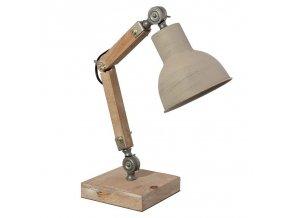 stolní lampa industial dřevo kov