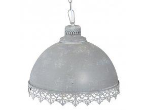 vintage lustr světle šedý velký