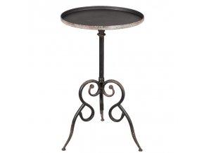 odkládací stolek kov kulatý