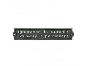 cedulka nevědomost