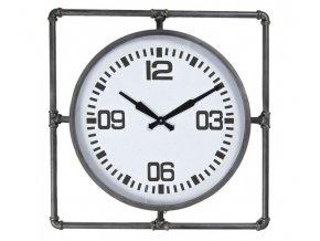 velke nastenne hodiny v kovovem ramu 63563 cm 1aa