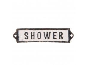 kovova cedulka shower 1513 cm