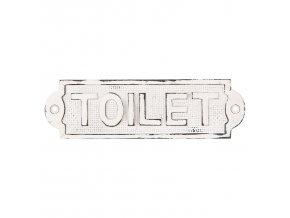 bila kovova ceulka s patinou toilet 185 cm