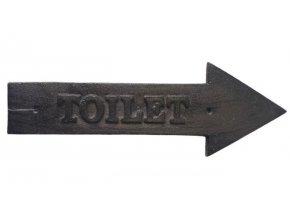 litinova cedule nastenna sipka toilet 29101 cm