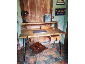 Industriální psací stůl se šuplíkem- Hynek -120x60x97