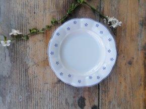 Babiččin porcelán - TEČKOKVÍTKY - tlustostěnný dezertní talíř - 19 cm