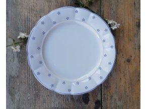 Babiččin porcelán - TEČKOKVÍTKY - tlustostěnný mělký talíř - 26 cm
