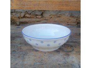 Babiččin porcelán - TEČKOKVÍTKY - salátová mísa - 19,5 cm