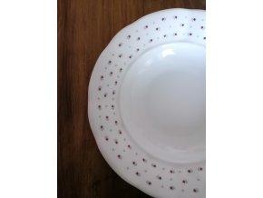 Babiččin porcelán - růžokvítky - tlustostěnný hluboký talíř - 24 cm