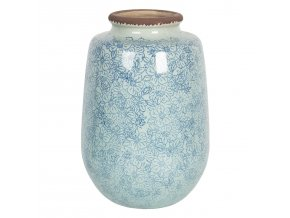 velka vintage keramicka vaza s kvitky bleues o 1726 cm
