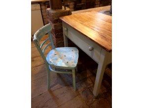 Židle - modrá s patinou