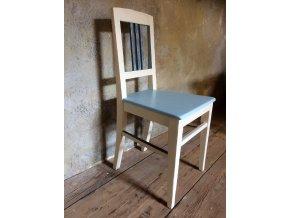 Židle - bílo modrá 3