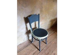 Židle - šedo modrá