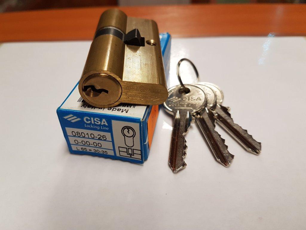 L 20, 30/35, mosadz, 3 kľúče, stavebná cylindrická vložka