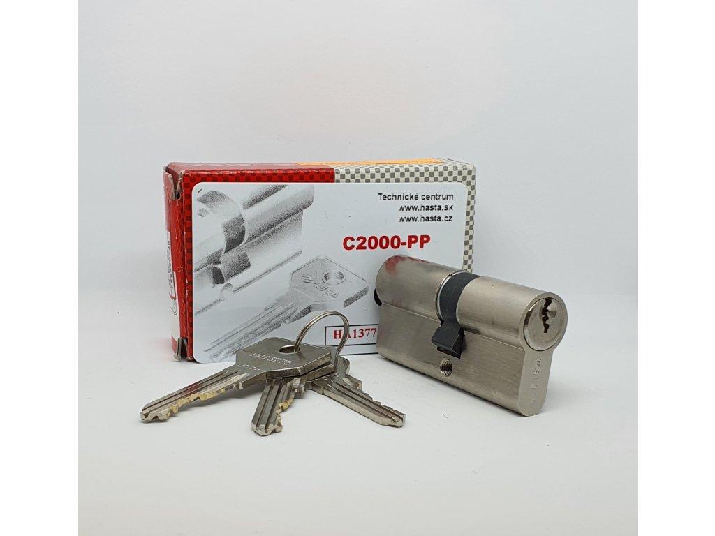 Bezpečnostná vložka C2000 PP (kópie kľúčov len na základe karty) 30/35 nikel, 3 kľúče