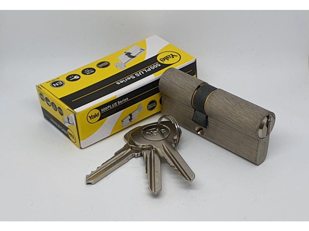 YALE Y500, nikel, 30/40, 3 kľúče, stavebná cylindrická vložka