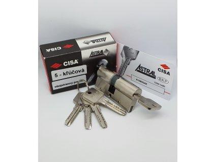 Bezpečnostná vložka ASTRAL SNAP, 30/35,BSZ obojstranný prevod kľúča, nikel, 5 kľúčov