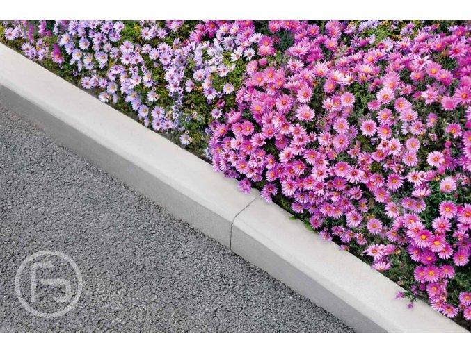 Obrubník chodníkový šedý (průměr 100x10x25 cm)