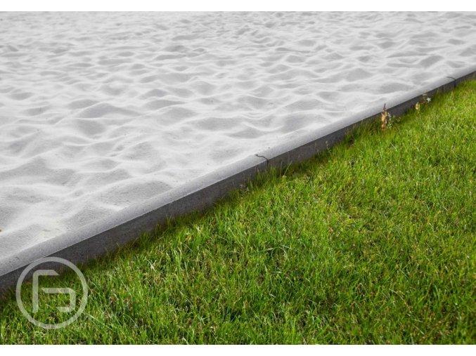 Obrubník záhonový kulatý se zámkem šedý (průměr 100x5x25 cm)