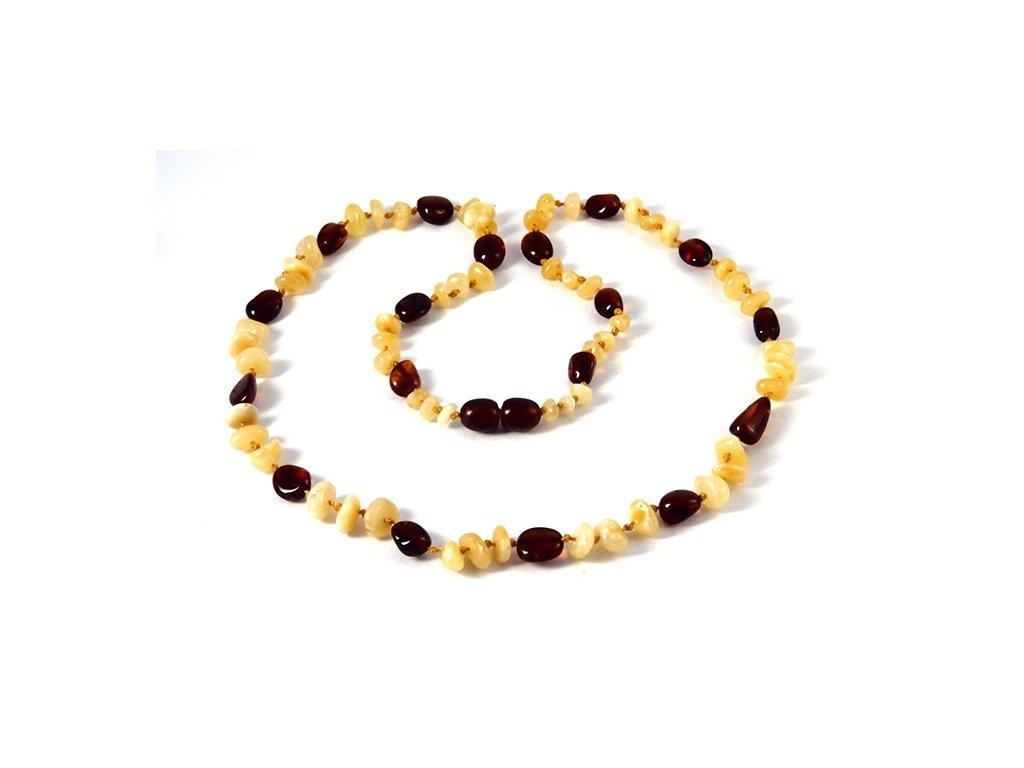 Jantarový náhrdelník Cognac Yellow mix - Zandup 1f639f0781f