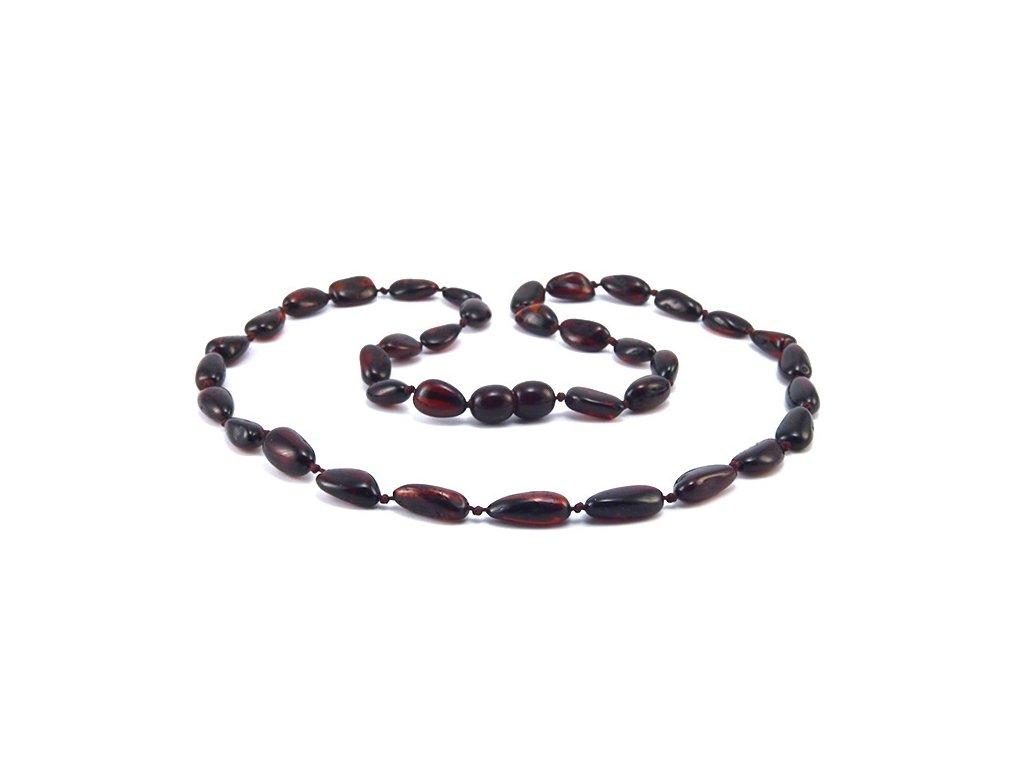 Jantarový náhrdelník Cherry oválné korále - Zandup f190720afc7