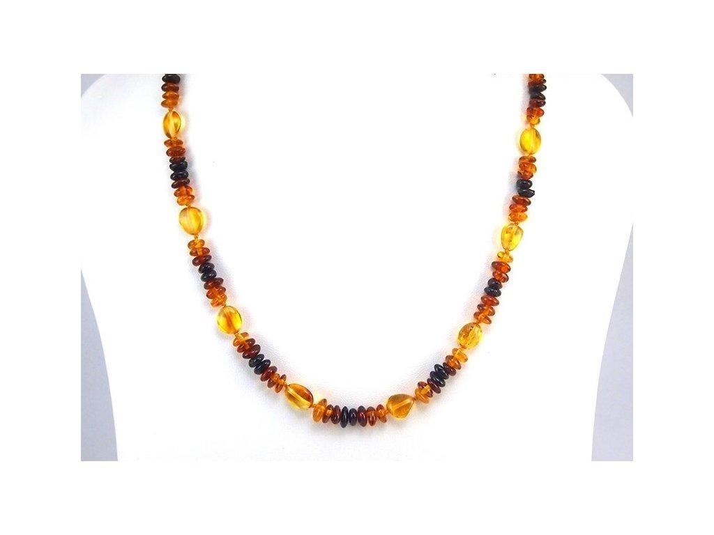 Jantarový náhrdelník Mixed colors - Zandup 0316256cd20