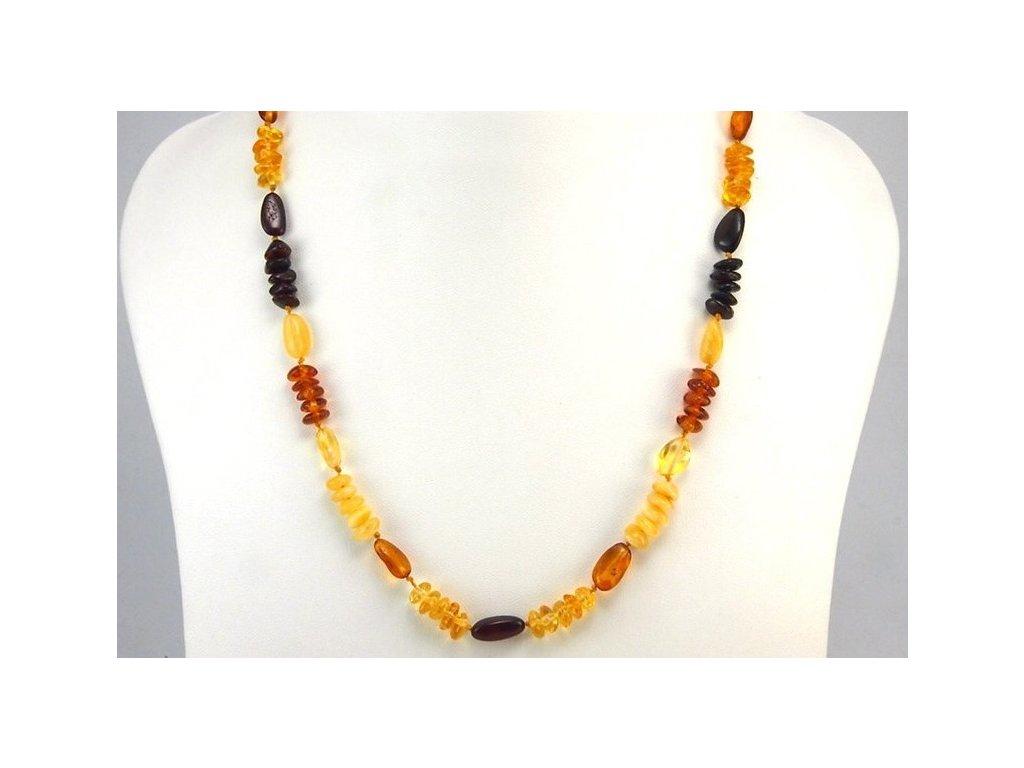 542ebd74d Jantarový náhrdelník Multi color - Zandup