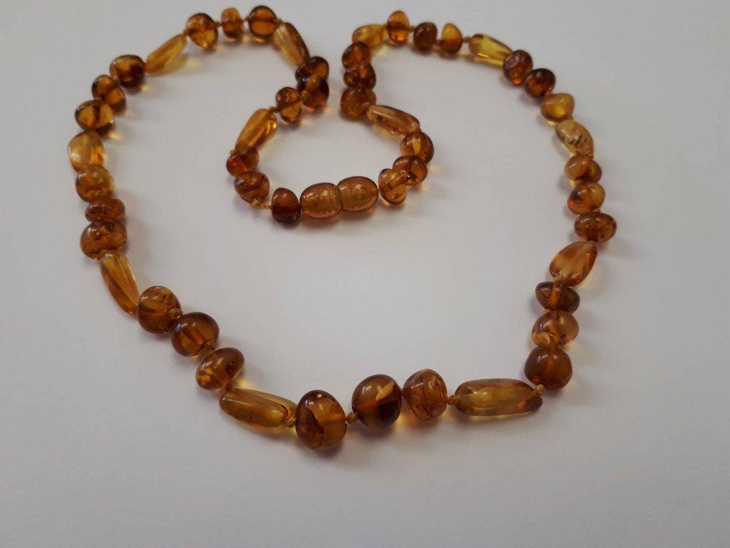 Jantarový náhrdelník Cognac Honey - Zandup a8ea60c8214