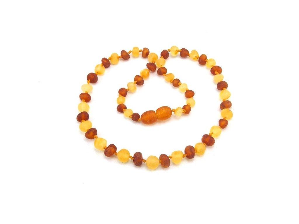 60974f906 Jantarové korálky Honey Yellow neleštěné kulaté - Zandup