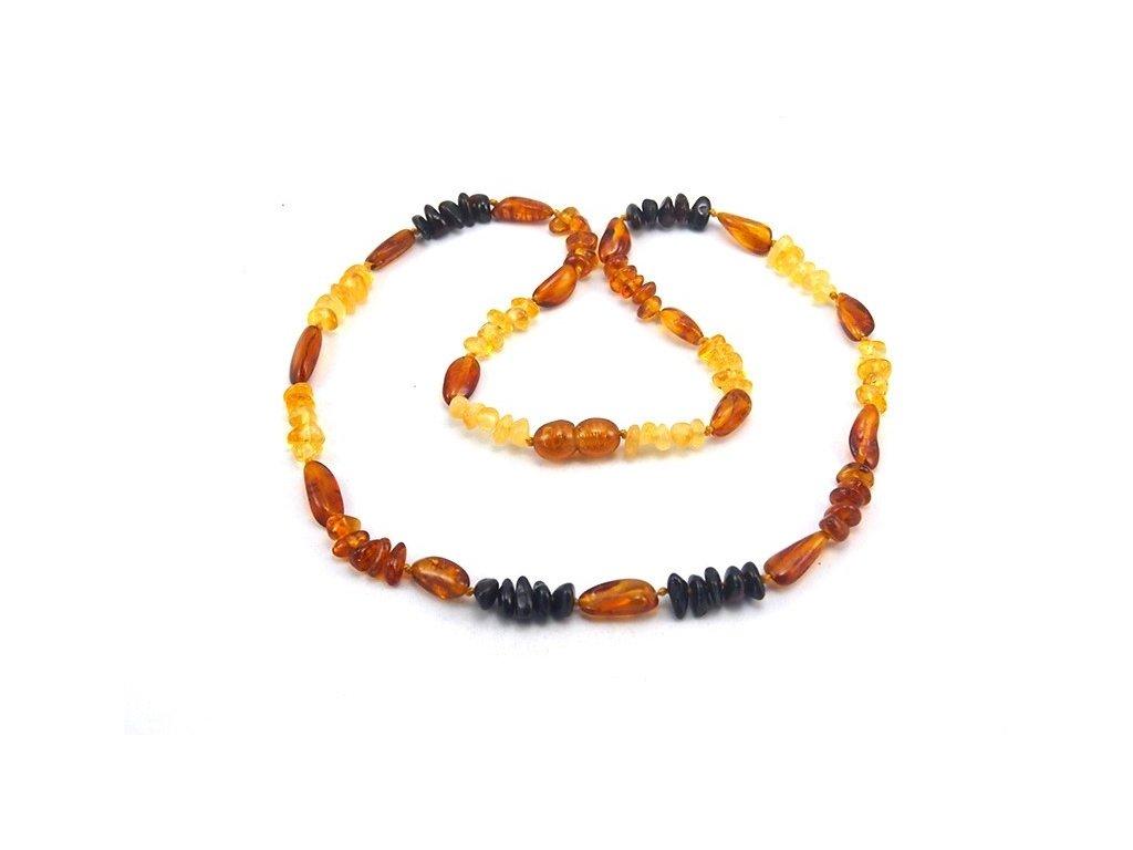 Jantarový náhrdelník Mixed colors s oválnými - Zandup 33886158ddb