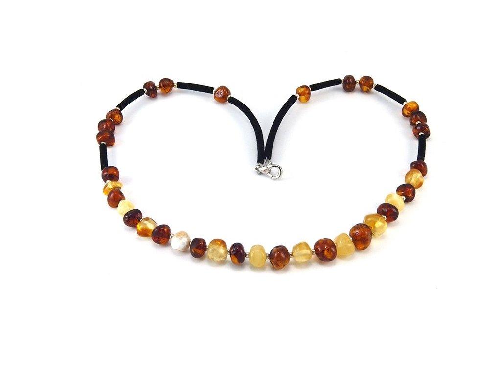 Jantarový náhrdelník Multi color kulaté - Zandup 577954c08b4