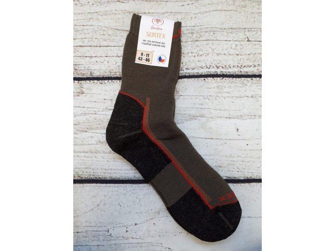 Surtex ponožky ZIMA (min. 95% merinové vlny) 13-15 (vel. 48-50)