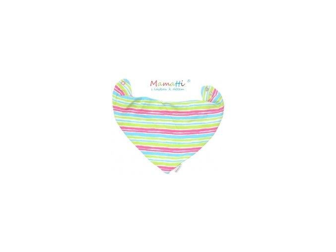 73555 109755 detsky satek na krk mamatti cat barevne prouzky