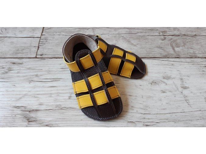 Nohatka sandálky ARA hnědo-žlutý