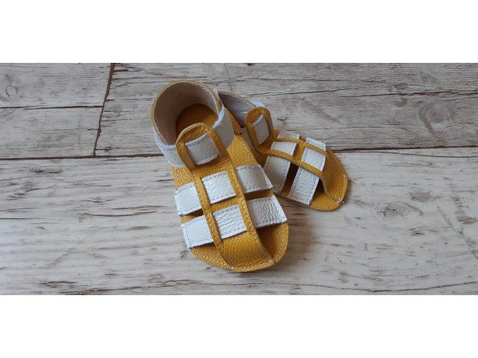 Nohatka sandálky ARA žluto-bílý