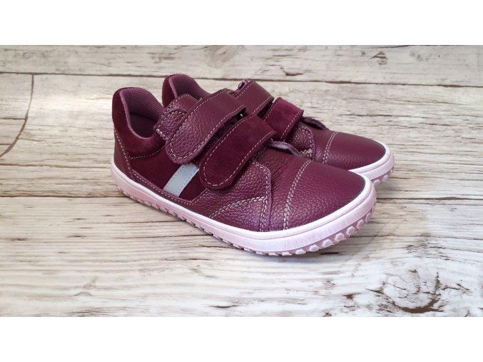 Dětské celoroční boty Jonap B10MV vínová - suchý zip