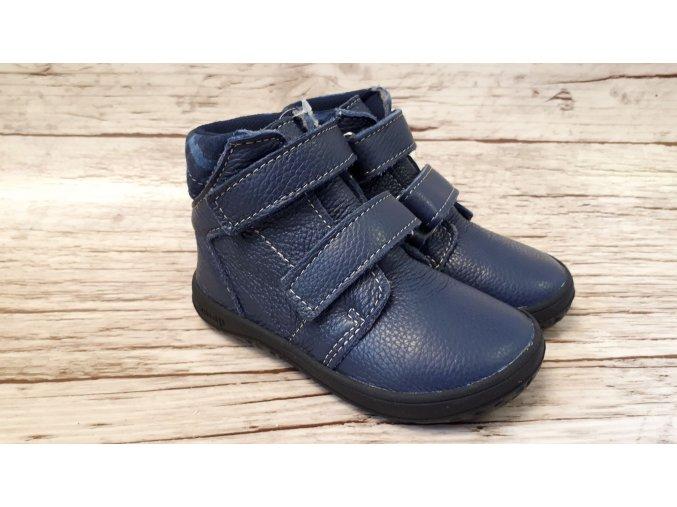 Dětské celoroční boty Jonap B2MV modrá maskáč NEW - suchý zip