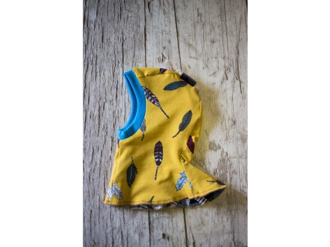 Kukla oboustranná Pírka na žluté/Auta vel. 2