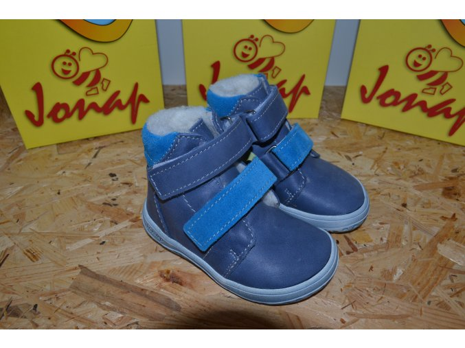Zimní barefoot obuv Jonap B4 MV vínová
