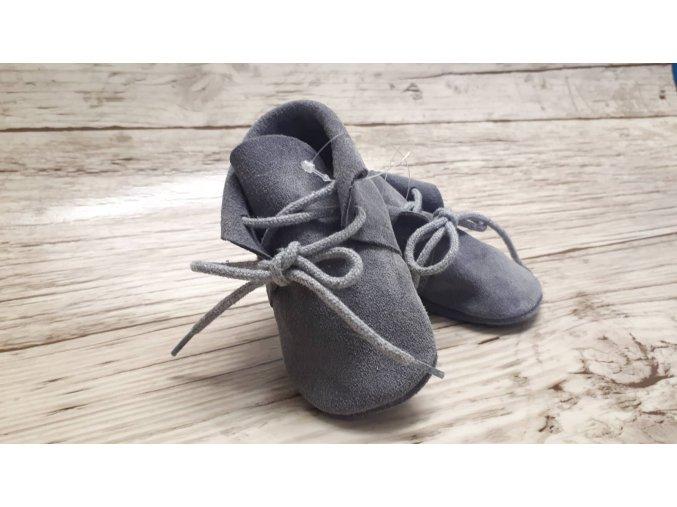 baBice barefoot capáčky - BA-190/ mokasíny šedé