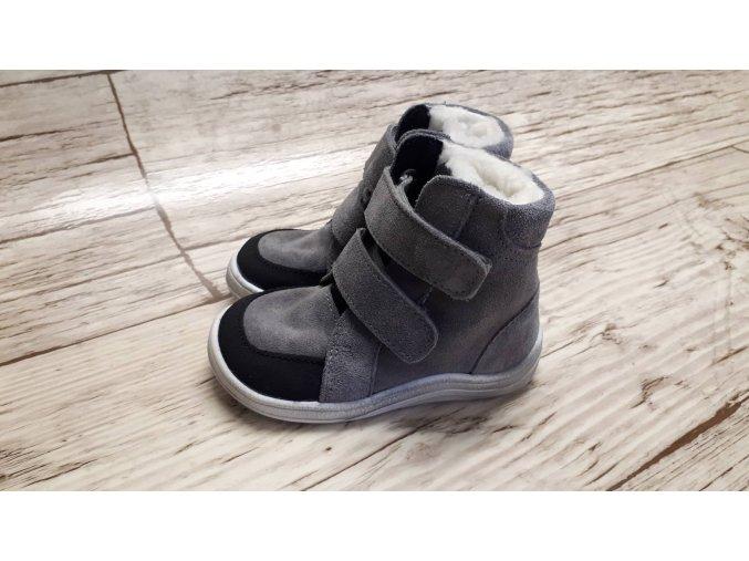 Baby Bare Febo winter Grey velour Asfaltico