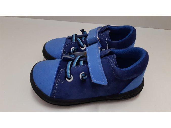 Celoroční barefoot obuv Jonap B12SV modrá SLIM