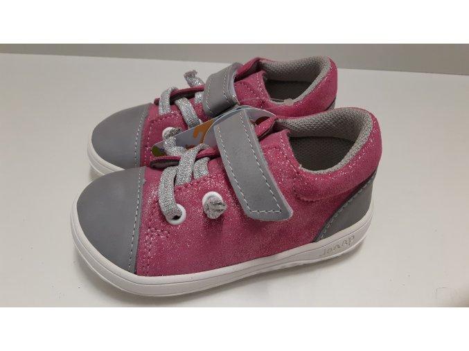Celoroční barefoot obuv Jonap B12MV růžová šedá SLIM