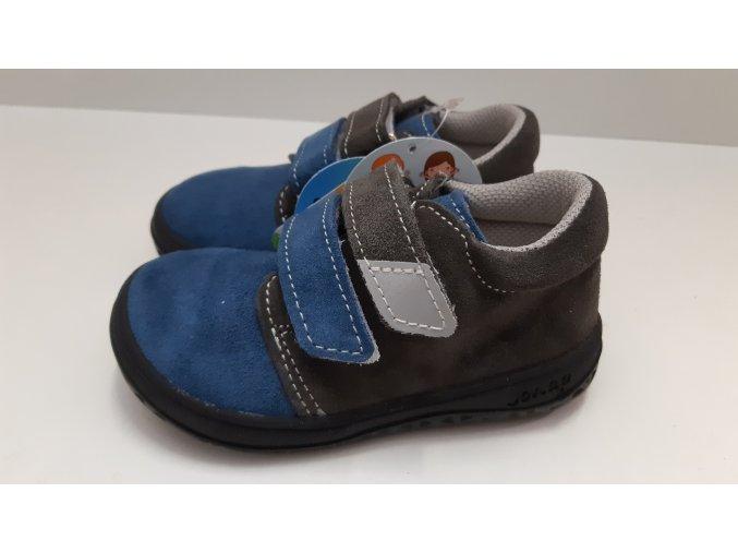 Celoroční barefoot obuv Jonap B1SV šedá modrá SLIM