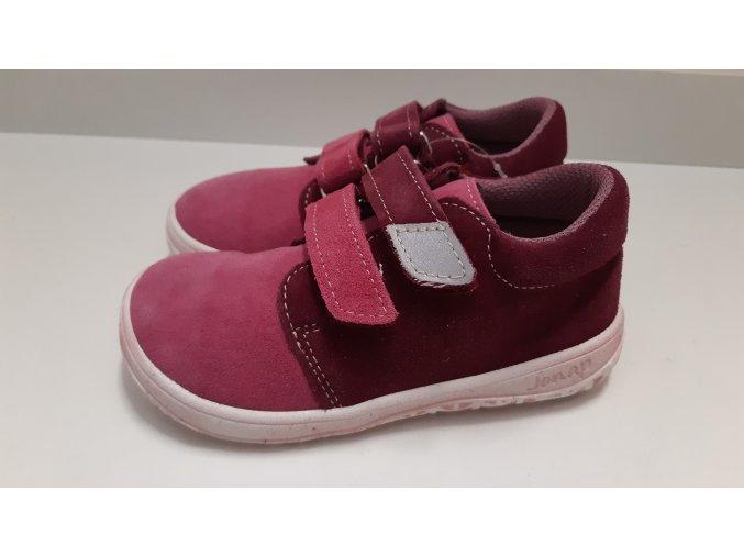 Celoroční barefoot obuv Jonap B1SV vínová růžová